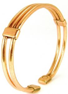 M70: Magnetic Copper Centre Bar Bracelet